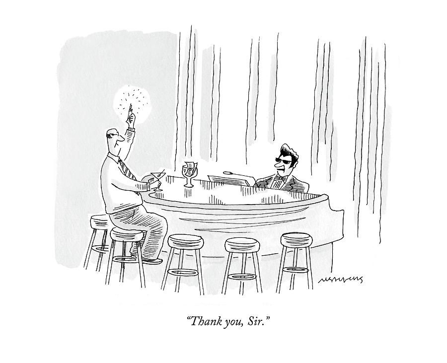 Thank You, Sir Drawing by Mick Stevens