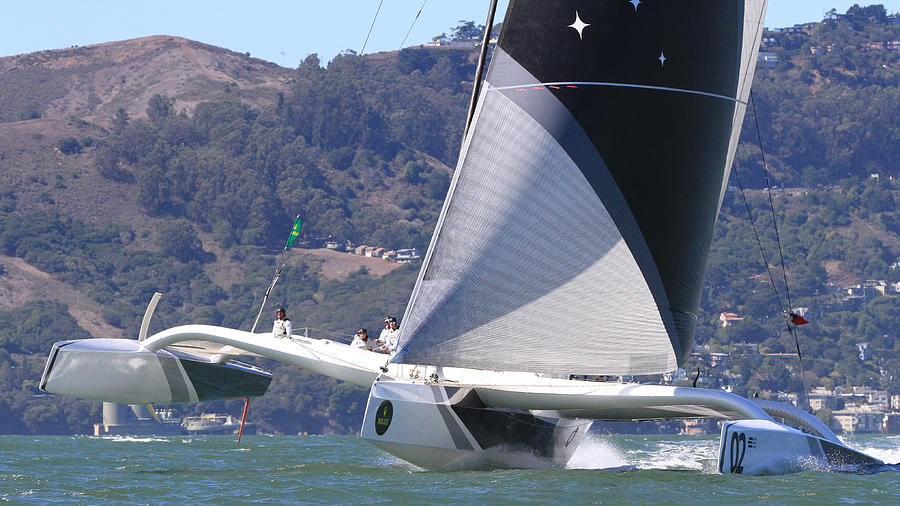 Trimaran Photograph - San Francisco Sailing by Steven Lapkin