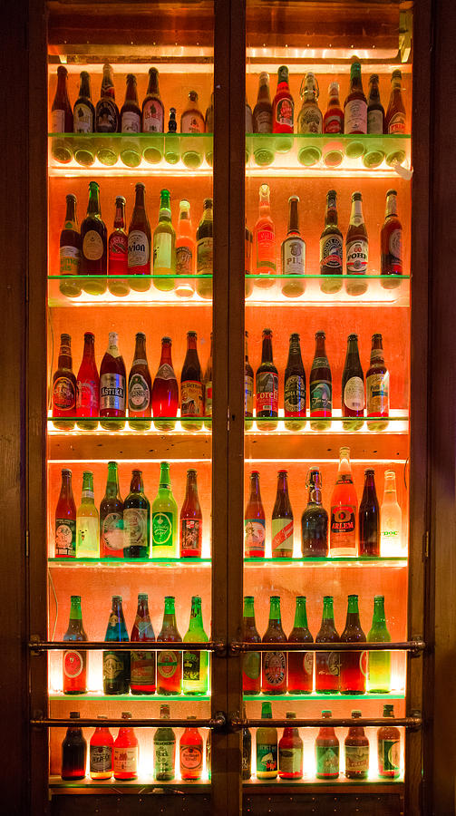 Amber Photograph - 76 Bottles Of Beer by Semmick Photo