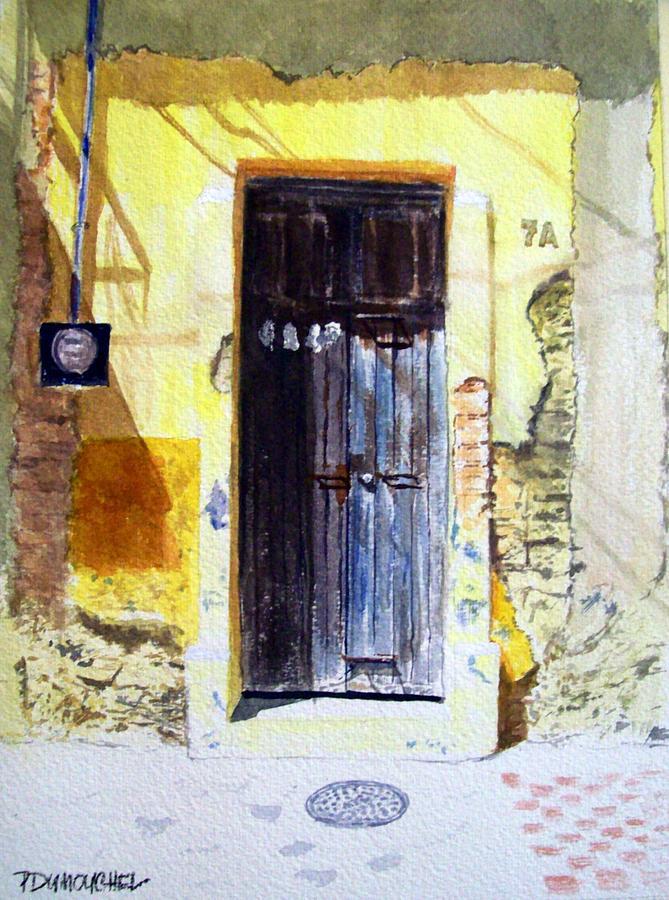 Door Painting - 7A by Patrick DuMouchel