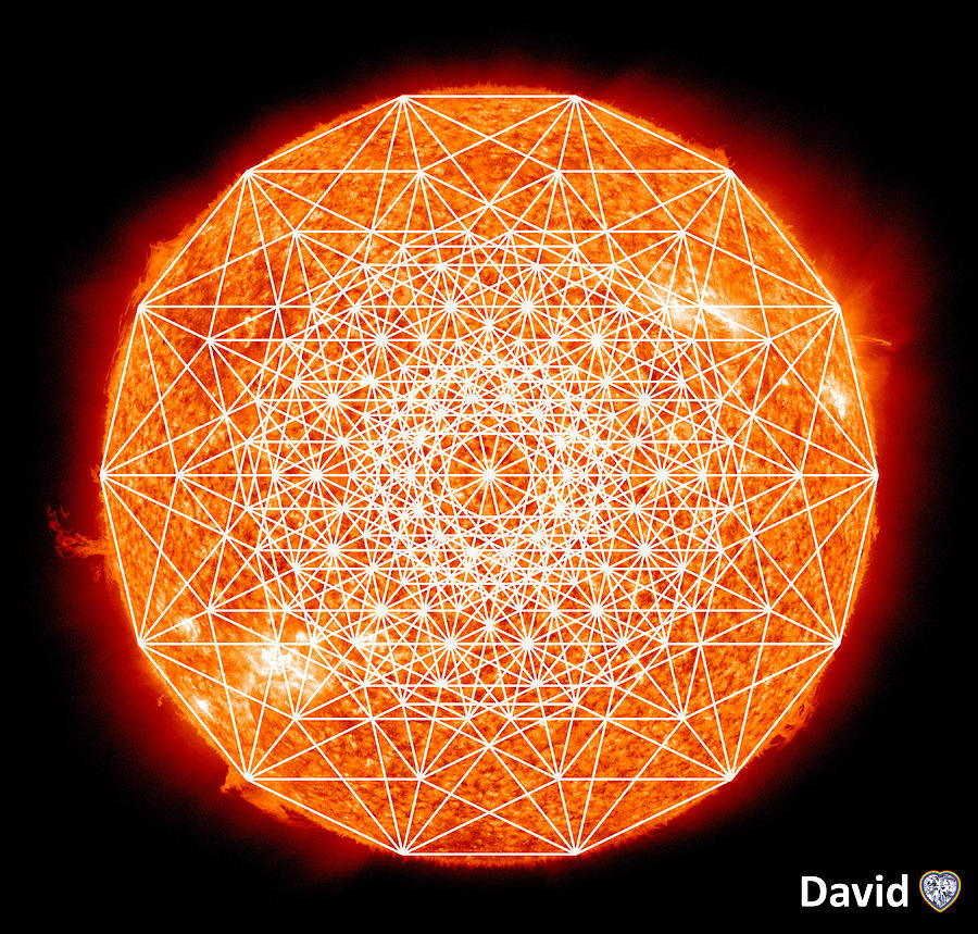Sun Digital Art - 7d Sun by David Diamondheart