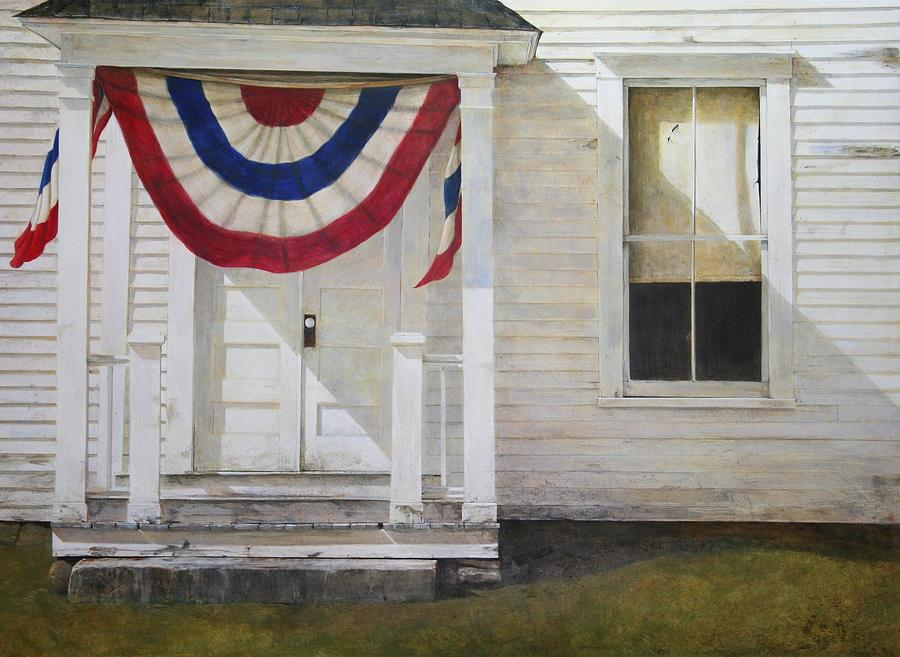 Flag Painting - 7th Of July by Stephen Hodecker