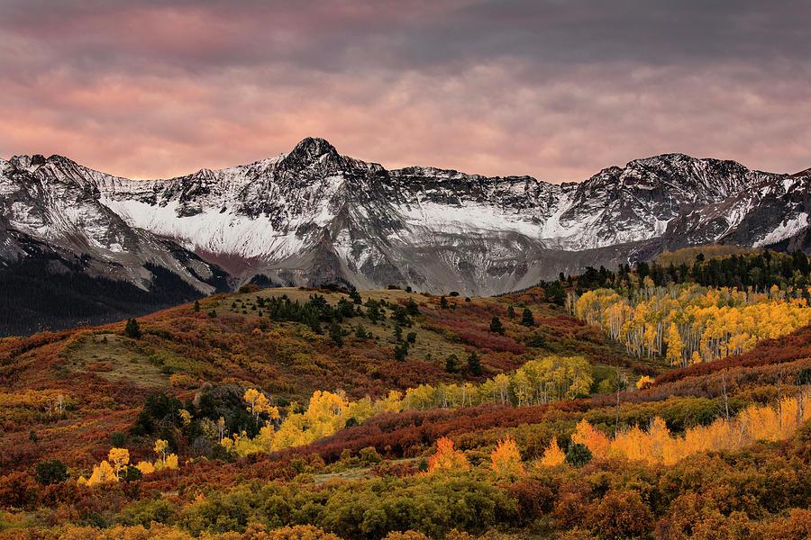 Adam Jones Photograph - Autumn Aspen Trees And Sneffels Range by Adam Jones
