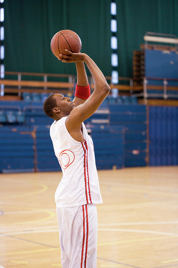 Basketball Photograph - Basketball Player Scoring by Gustoimages/science Photo Library