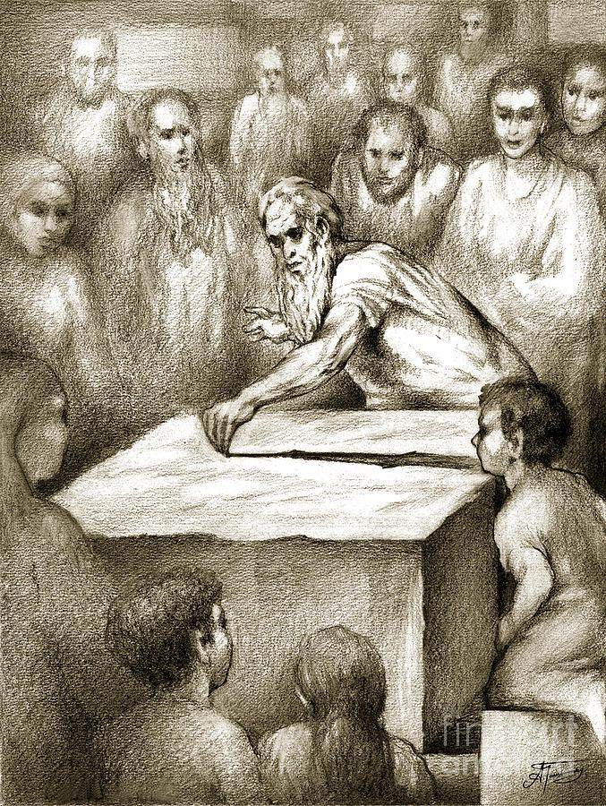 Biblical Drawing - Biblical Illustration by Alex Tavshunsky