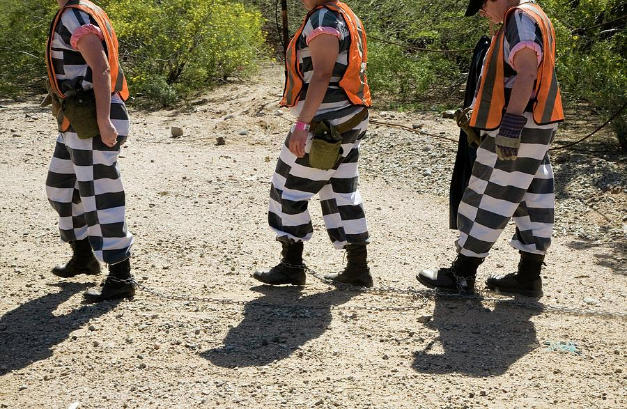 Human Photograph - Chain Gang by Jim West
