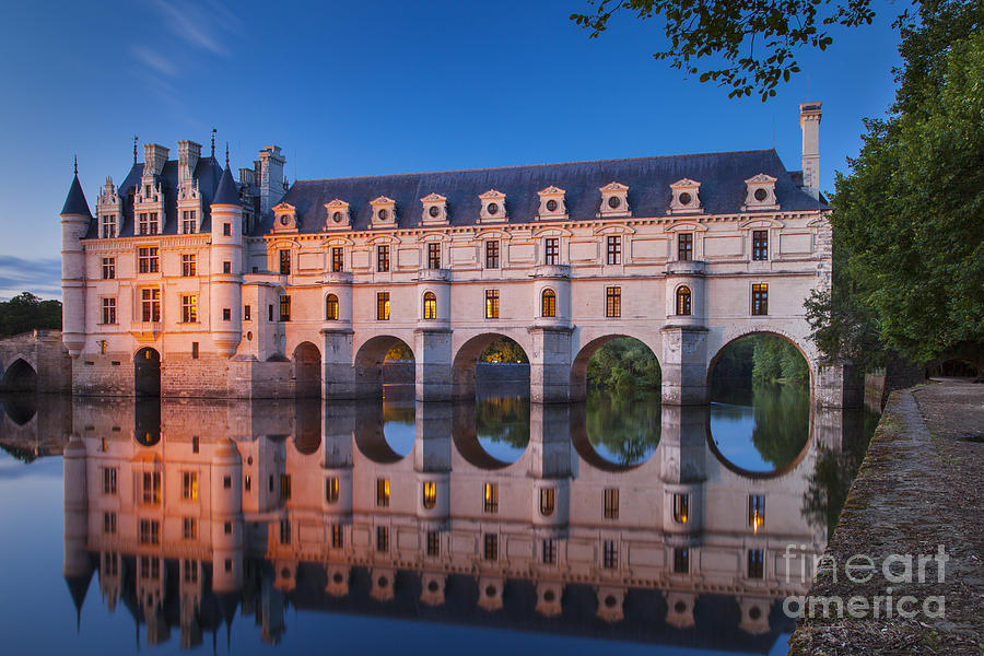 Arch Photograph - Chateau Chenonceau by Brian Jannsen