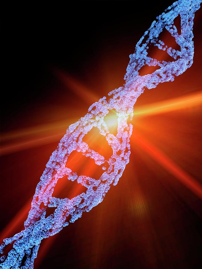Biochemical Photograph - Crispr-cas9 Gene Editing by Alfred Pasieka/science Photo Library