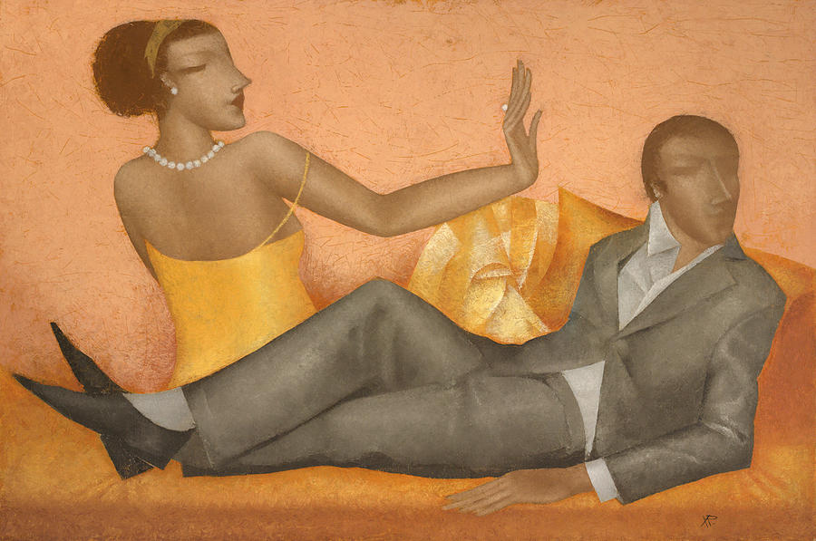 Dating Painting - Date by Nicolay  Reznichenko
