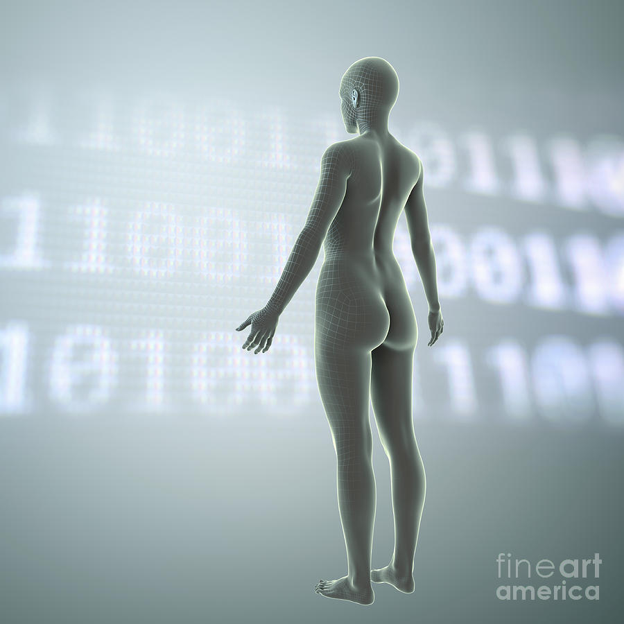 Human Body Photograph - Digital Being by Science Picture Co