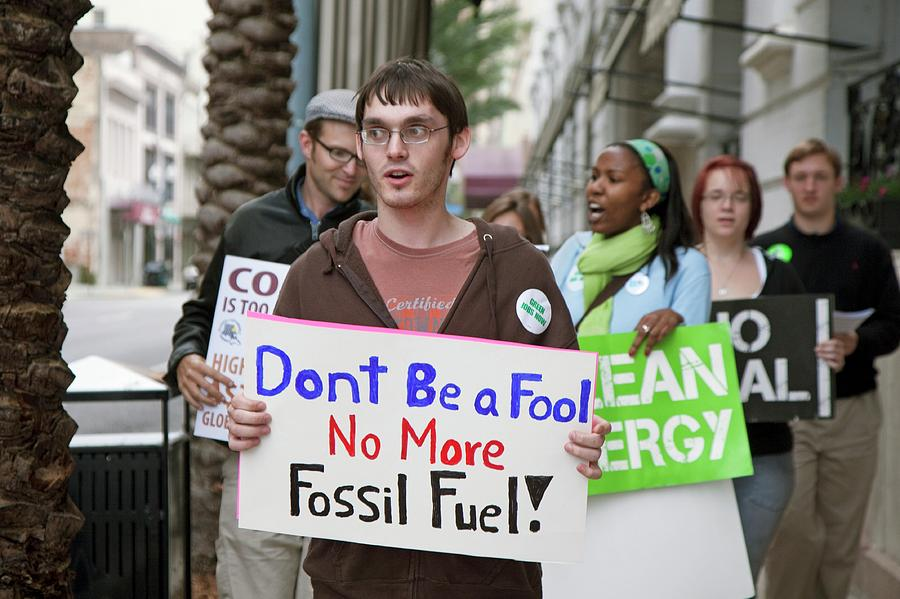 Human Photograph - Environmental Protest by Jim West