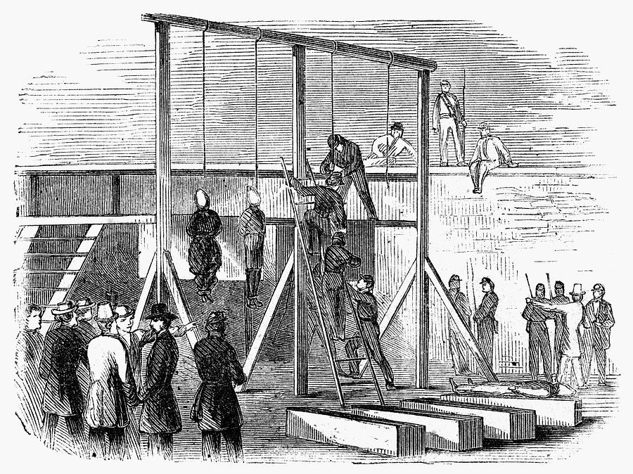 1865 Painting - Execution Of Conspirators by Granger