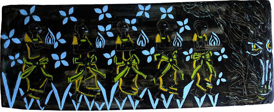 Jesus Ceramic Art - Five Wise Virgins by Gloria Ssali