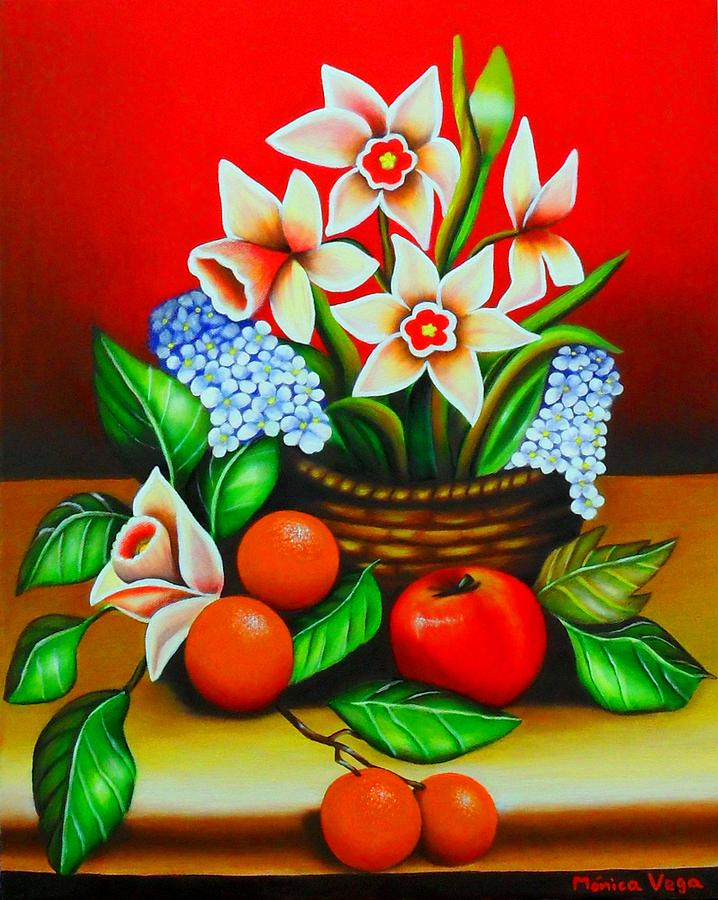Beautiful Painting Painting - Garden Delights by Monica  Vega