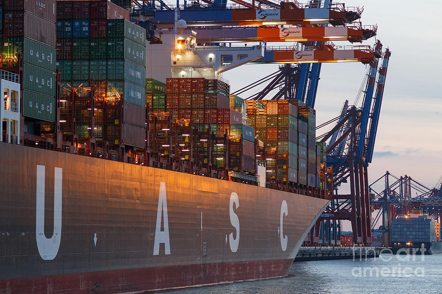Hamburg Harbor Container Terminal Photograph