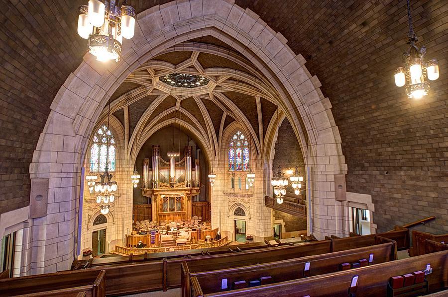 Mn Churches Photograph - Hennepin Avenue Methodist Church by Amanda Stadther
