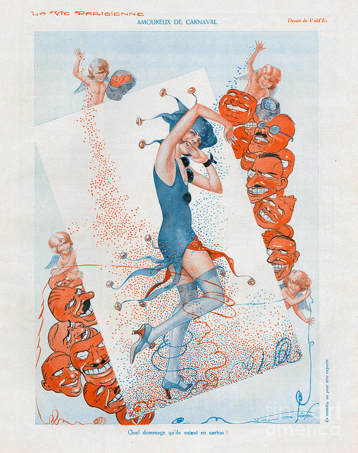 1930s Drawing - La Vie Parisienne 1930 1930s France Cc by The Advertising Archives