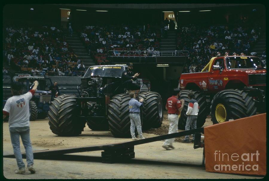 Square Garden Monster Truck Show Photograph by Antonio Martinho