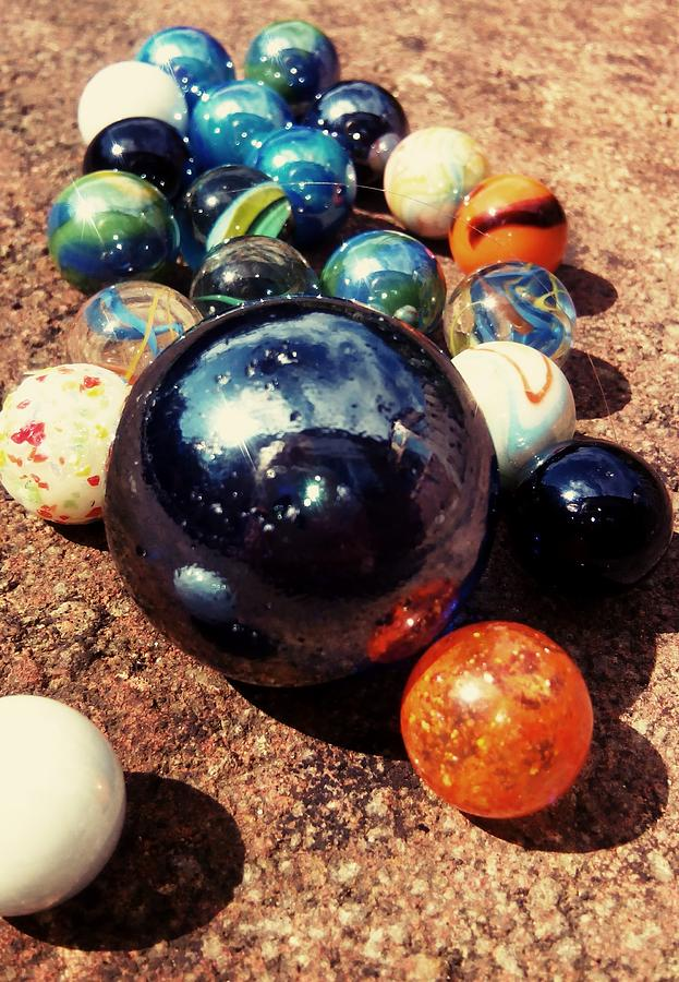 Marbles Photograph - Marbles by Candy Floss Happy