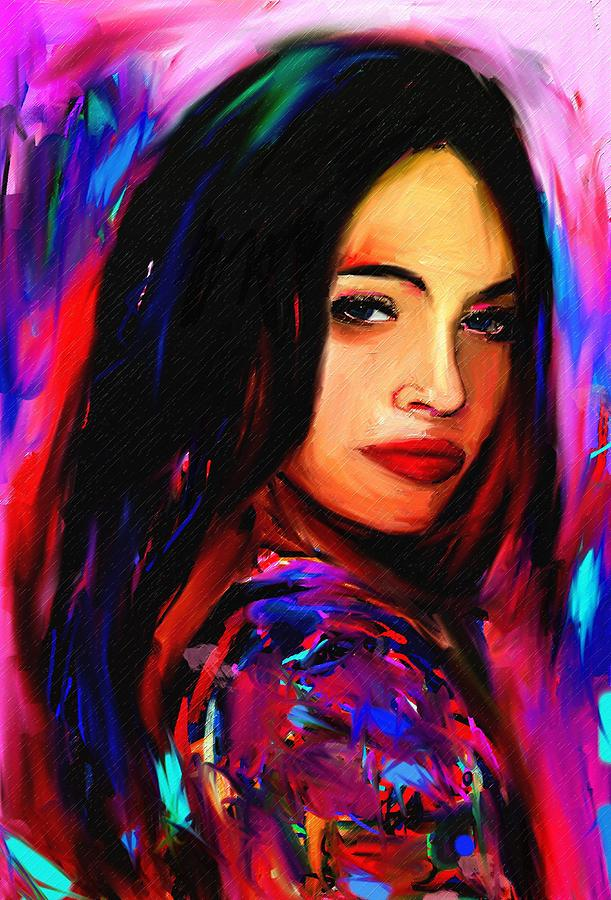 Megan Fox Painting - Megan Fox by Bogdan Floridana Oana
