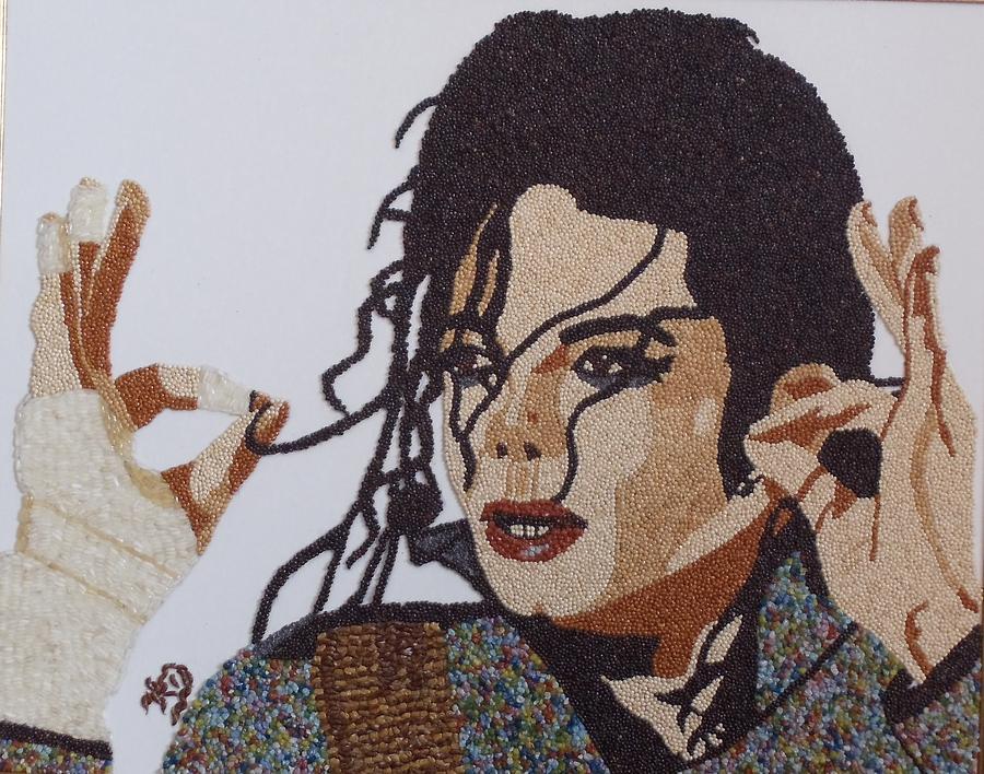 Portrait Painting - Michael Jackson by Kovats Daniela