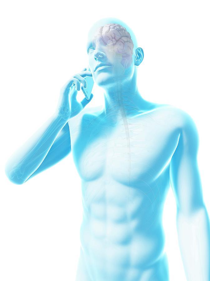 Artwork Photograph - Person Using A Mobile Phone by Sebastian Kaulitzki