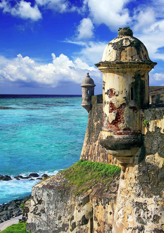 America Photograph - Puerto Rico, San Juan, Fort San Felipe by Miva Stock