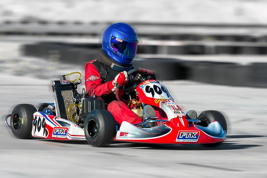 Action Photograph - Racing Go Kart by Gunter Nezhoda