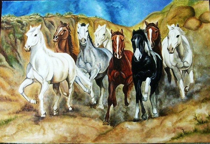 Running Horses ...