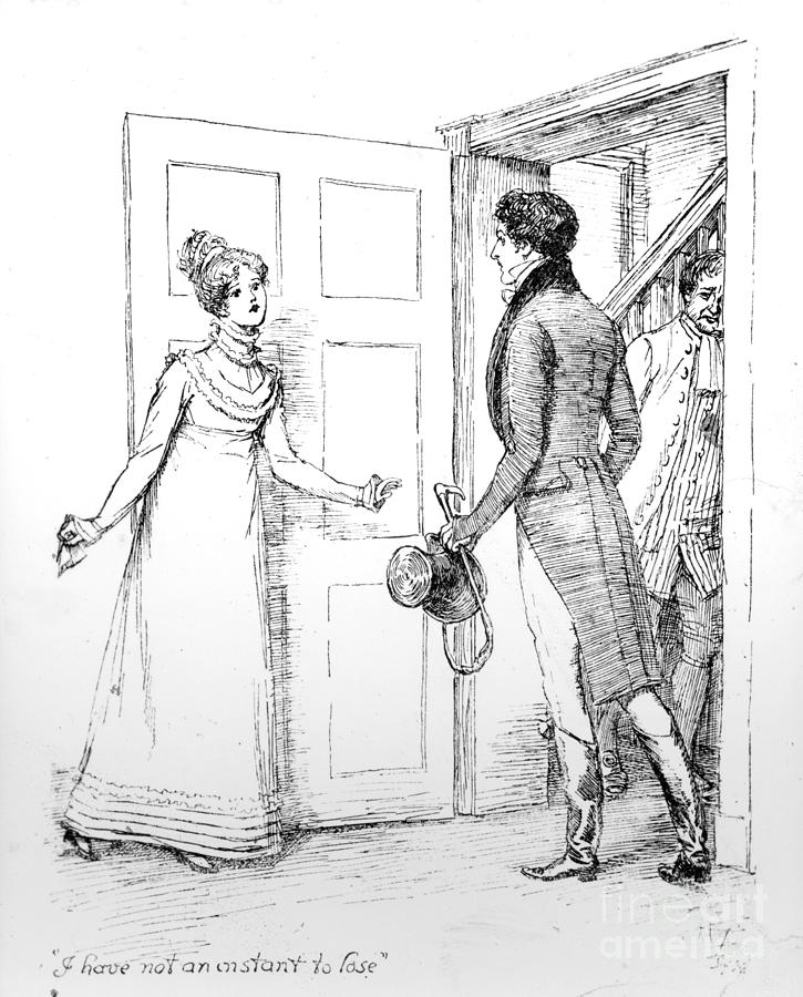 Jane Drawing - Scene From Pride And Prejudice By Jane Austen by Hugh Thomson