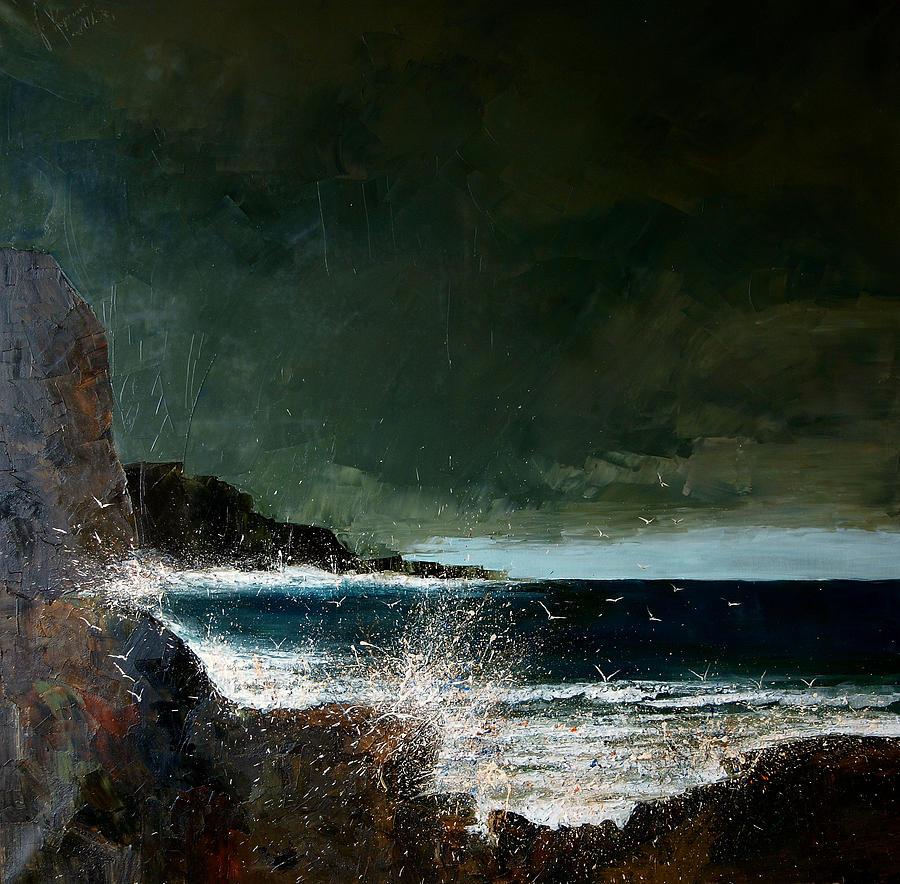 Sea Painting - Sea by Justyna Kopania