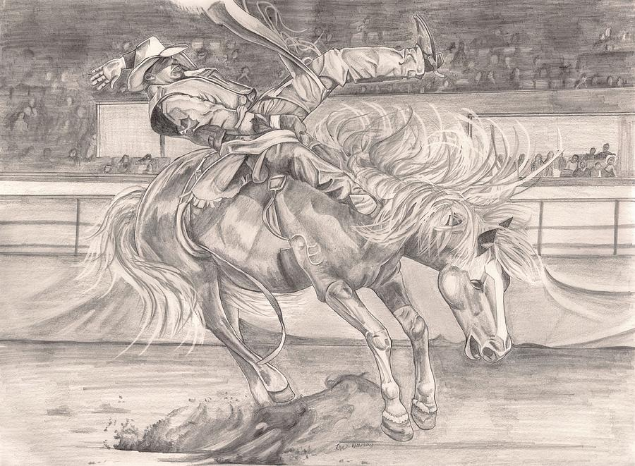 Cowboy Painting - 8 Seconds by Beverly Marshall
