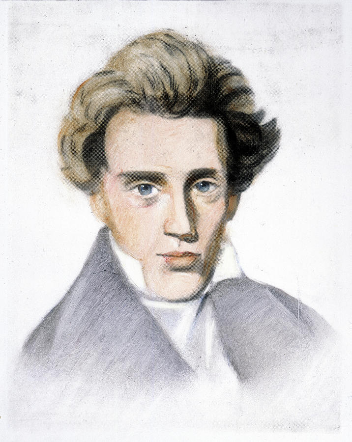 Soren Kierkegaard (1813-1855) Drawing by Granger