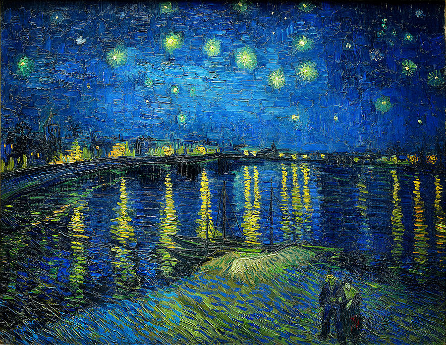 Vincent Van Gogh Painting - Starry Night Over The Rhone by Vincent van Gogh