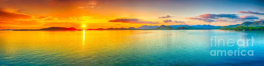 Sunset Panorama Photograph