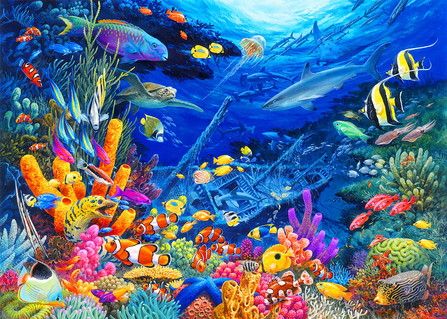 Undersea Wonders Painting By John Francis