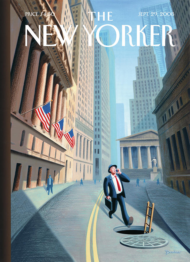 New Yorker September 29th, 2008 Painting by Eric Drooker