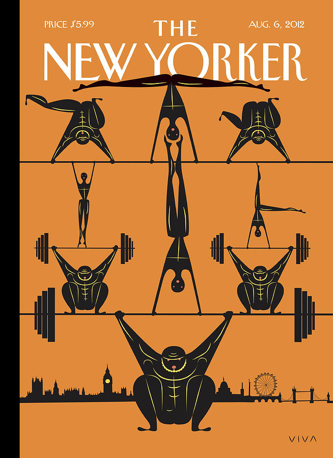 New Yorker August 6th, 2012 Painting by Frank Viva