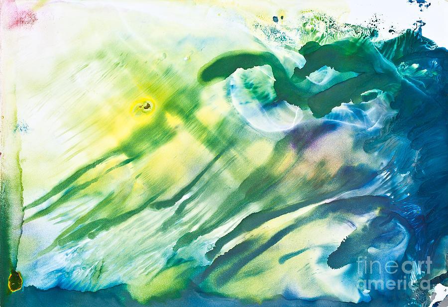 Monoprint Painting - Untitled by Noppanun Kunjai