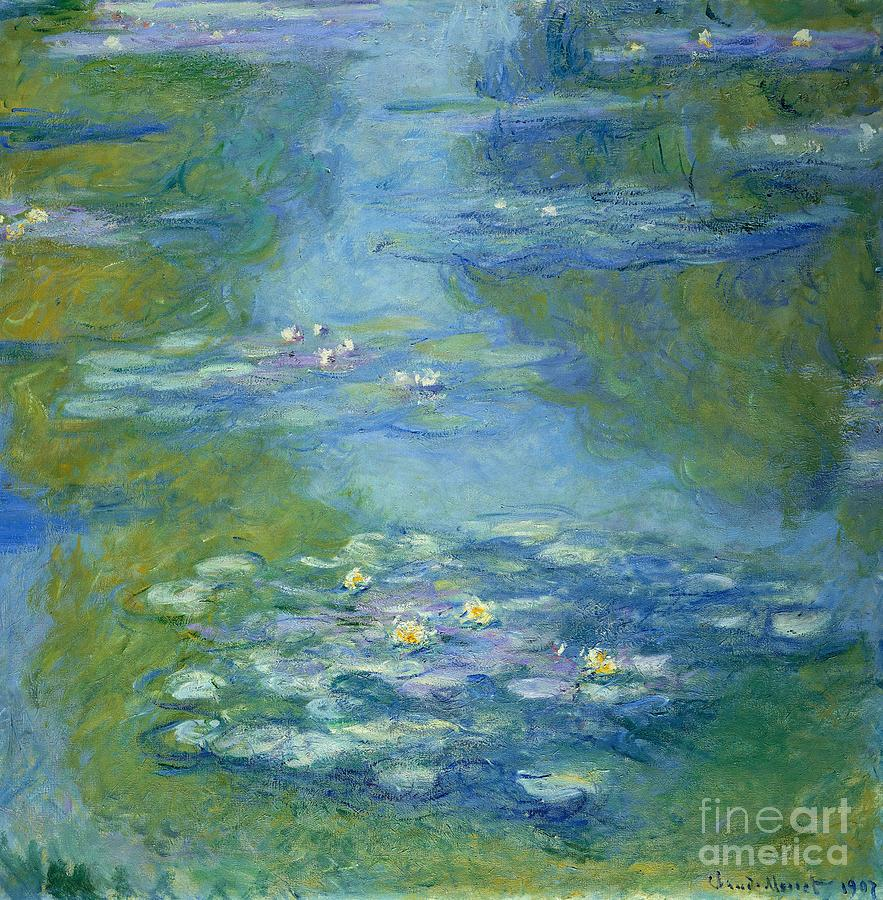 French Painting - Waterlilies by Claude Monet