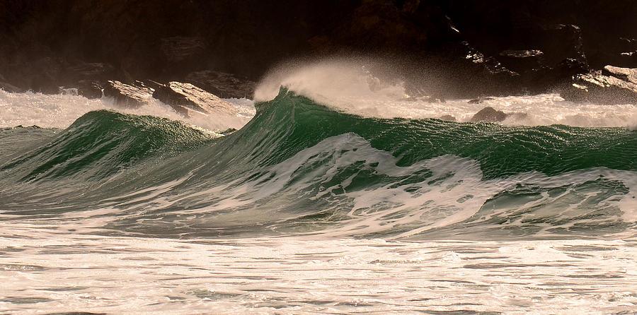 Waves Photograph - Waves by Barbara Walsh