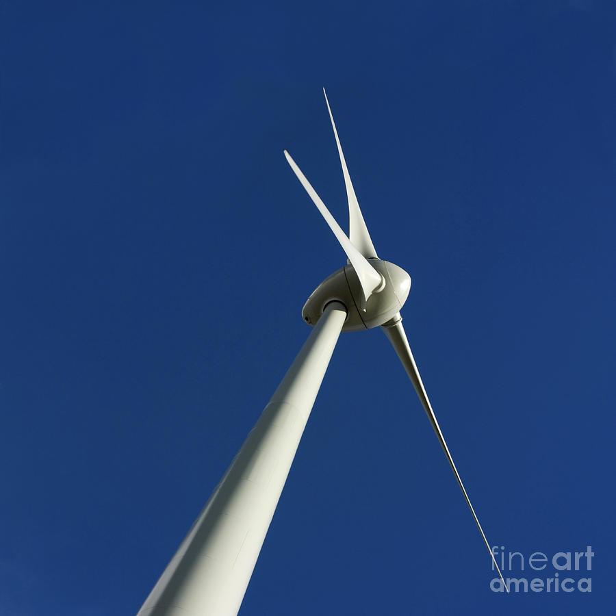 Renewable Energy Photograph - Wind Turbine by Bernard Jaubert