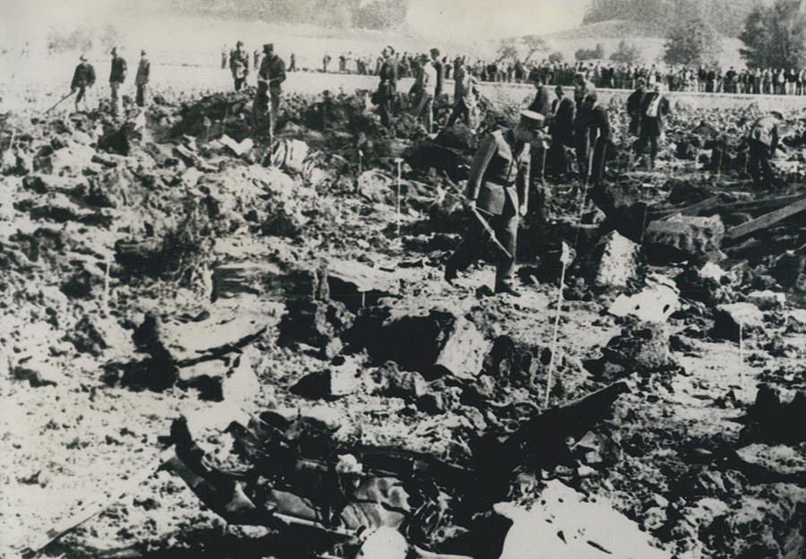 Retro Photograph - 80 Die In A Plane Crash Near Zurich by Retro Images Archive