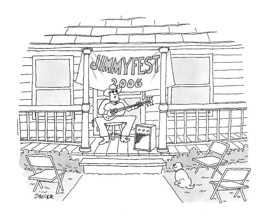 Jimmyfest 2006 Drawing by Jack Ziegler