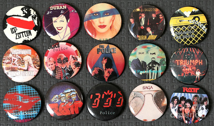 80s Music Rock Pins by Jt PhotoDesign
