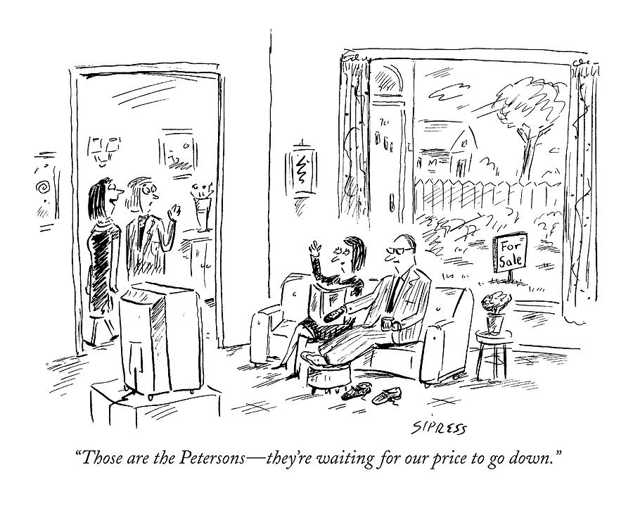 2006 Drawing - Those Are The Petersons - Theyre Waiting by David Sipress