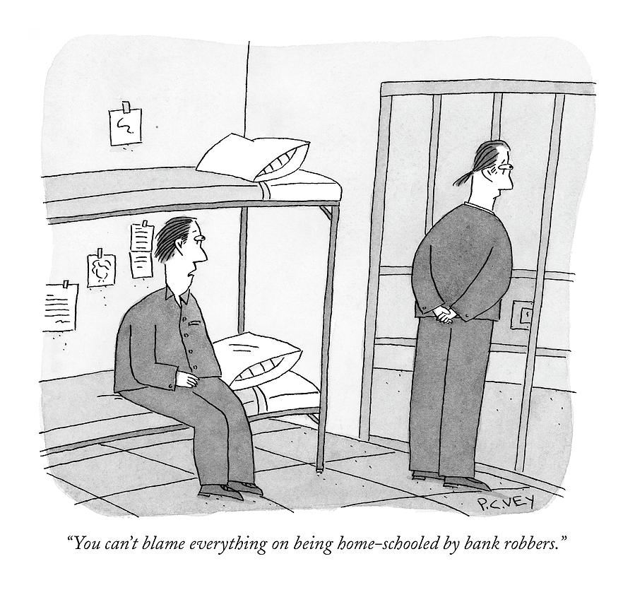 You Cant Blame Everything On Being Home-schooled Drawing by Peter C. Vey