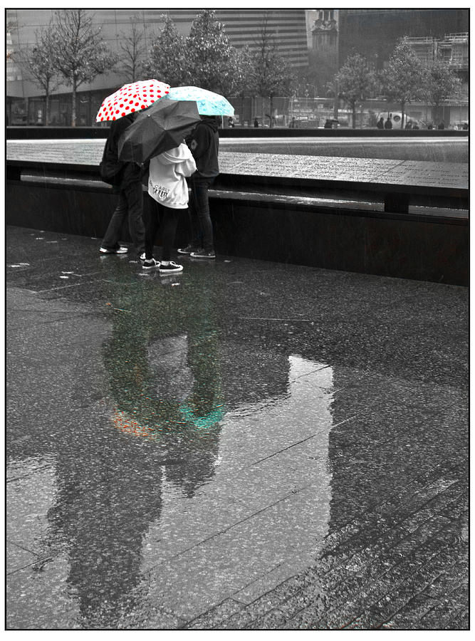911 Memorial Photograph - 8455 Strong Reflections by Deidre Elzer-Lento
