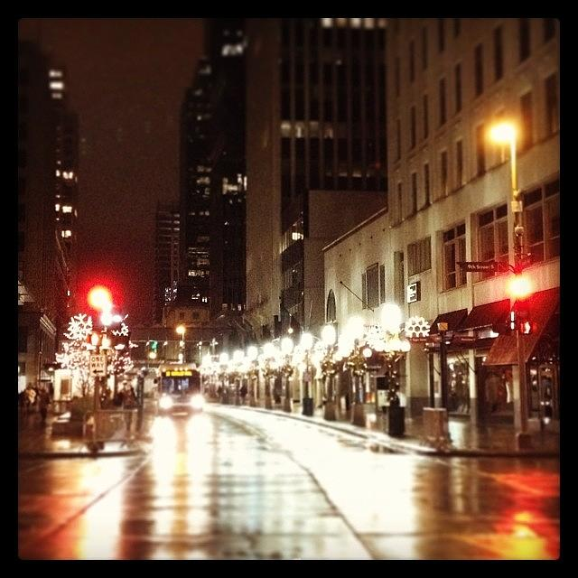 Nicollet Photograph - Nicollet Mall In Winter by Heidi Hermes