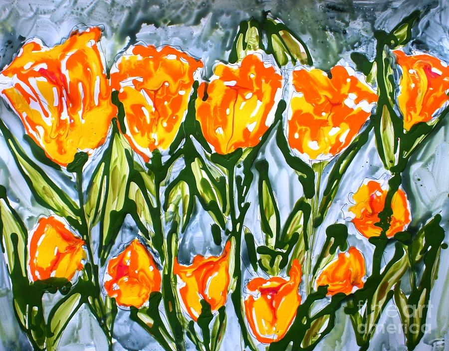 Flowers Painting - Mann Flowers by Baljit Chadha